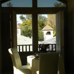 Vineyard View Room, open air view from breakfast table