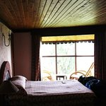 Our bedroom, and window overlooking Crater