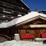 In front of the Sport Hotel in Hochgurgl