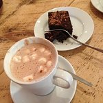 Hot choc and brownie yummy!
