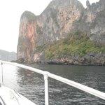 Phi Phi island coastline