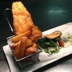 Tempura batter fish and chips..
