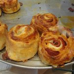 Pepperoni pinwheels.