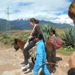 On the way to Salinas throgh mountain path, local people offered donkey ride