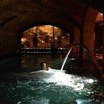 Underground spa pool