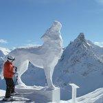 Wolf Sculpture in Courcheval
