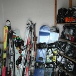 Very small and crowded Ski Room