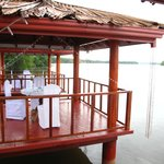 Gazebos by the river for meals
