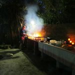 Braai at the excotic boma