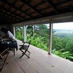 view from breakfast terrasse