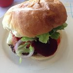 Cheeseburger with Beetroot.