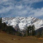 Cnow capped mountain range