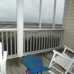 View of intercoastal waterway from private screened porch.