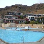 vista delle camere dalla piscina