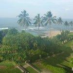 La plage vue de notre chambre