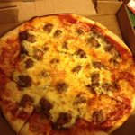 Medium pizza with italian sausage and pepperoni