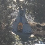"A ""TeePee"" on site"