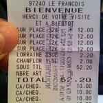 pas 14 mais 12€ le menu !!!