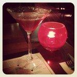 Strawberry Daquiri and candlelight