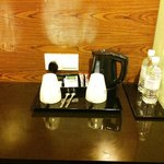 The refreshments provided in the room