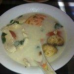 small Tom kha soup...big portion!