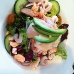 Prawn and Salmon salad