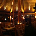 Inviting and warm dining atmosphere