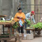 Entrepreneur's are selling produce on the streets