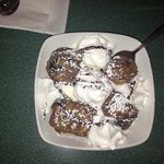 fried brownie with ice cream YUMMY