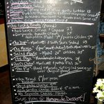 Menu from January 2013