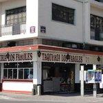 Taco shop across street