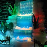 Waterfall ice sculpture