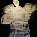 Angel from nativity scene, ICE! at Gaylord Palms