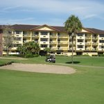 Hotel view from golf course