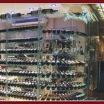Glass Wine Cellar with over 300 selections