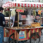 One of the food vendors
