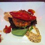 salmon crab cake!
