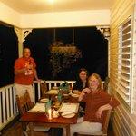 Dinner and drinks on the veranda