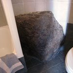 Truly a cave room - rock in bathroom