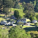 farm buildings & accommodation from viewing point