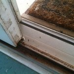 built up dirt on door jambs made opening and closing difficult