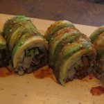 Caterpiller roll with unagi