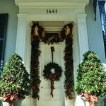 Front door - the entire house was decorated beautifully for Christmas