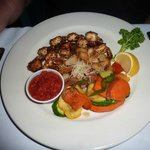 Blackened shrimp platter