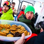 Snack time rules.... get on the cookies quick.  Photo: Kyle Hamilton