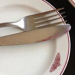 unused fork and knife