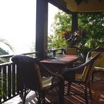 The veranda, perfect for eating and relaxing