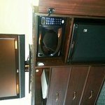 TV, Microwave and mini-fridge