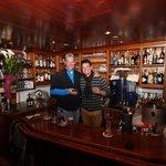 Dad and I behind the bar..