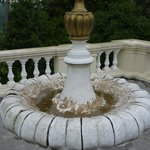 Filthy broken fountain